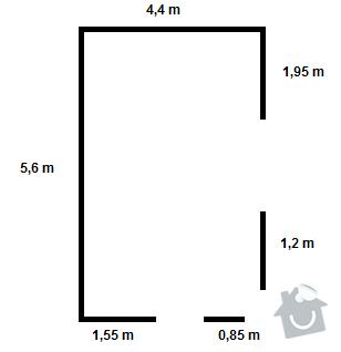 Pokládka podlahových lišt pro 1 pokoj: Obr3