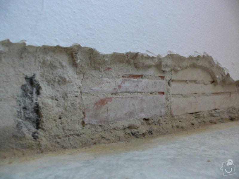Oprava zdi poškozené vodou: zed_001