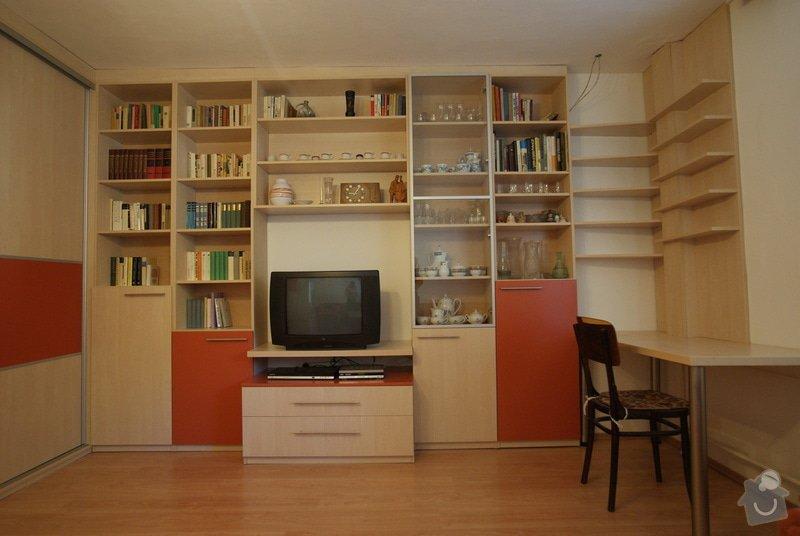 Obývací pokoj-knihovna, vestavěná skříň, pracovní místo, konf. sůl: DSC00722