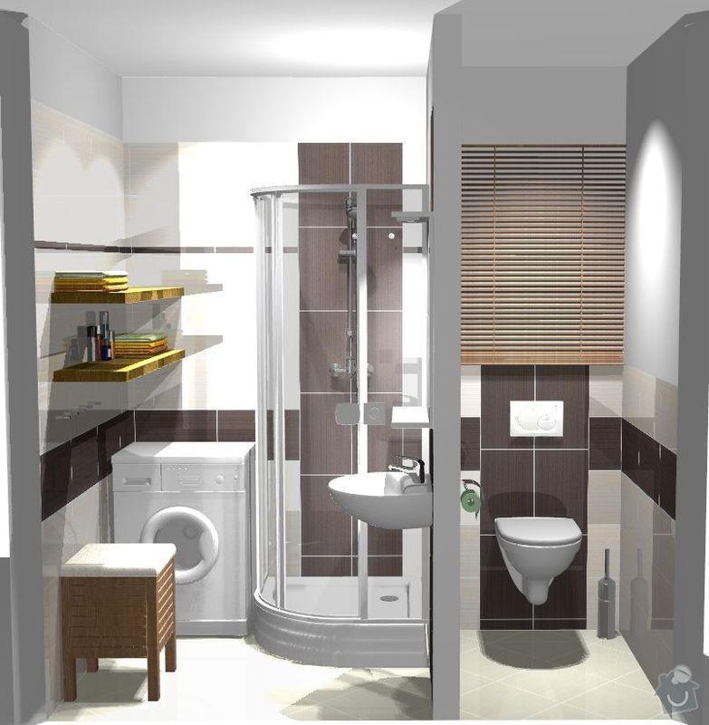 Rekonstrukce bytového jádra v bytě 2+1, 3. NP: ref1
