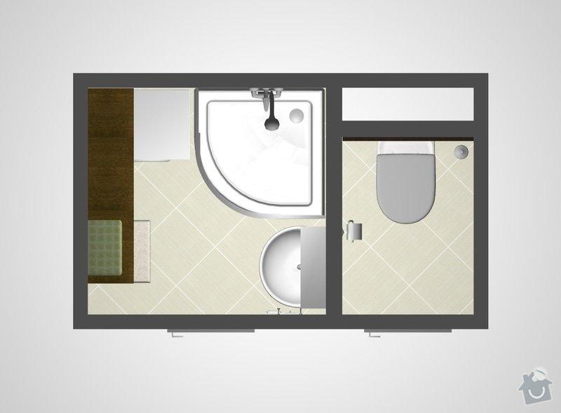 Rekonstrukce bytového jádra v bytě 2+1, 3. NP: ref2