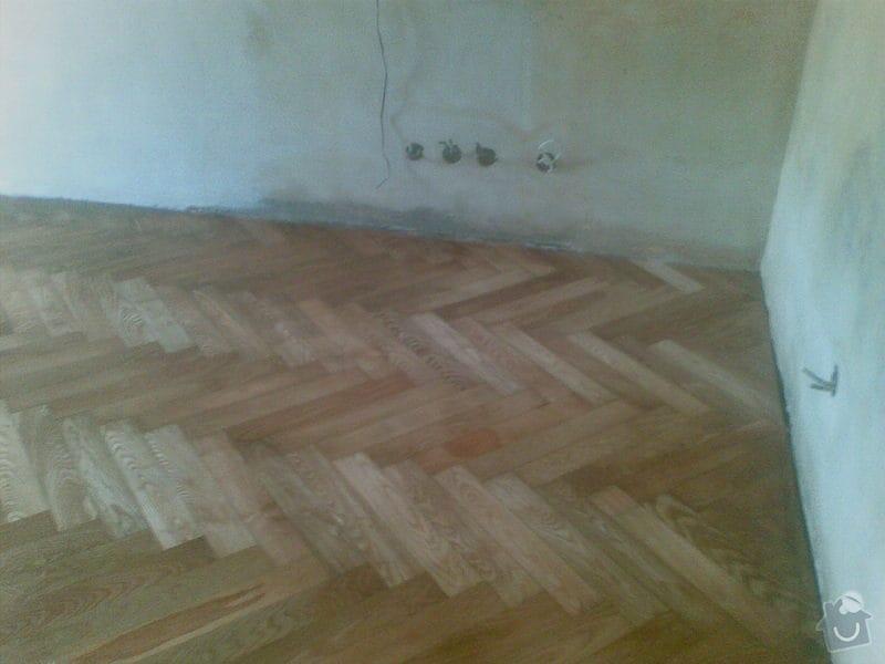 Přebroušení a následné olejování staré jasanové podlahy: 27082010