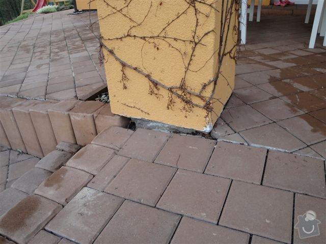 Oprava zámkové dlažby: terasa_pilir