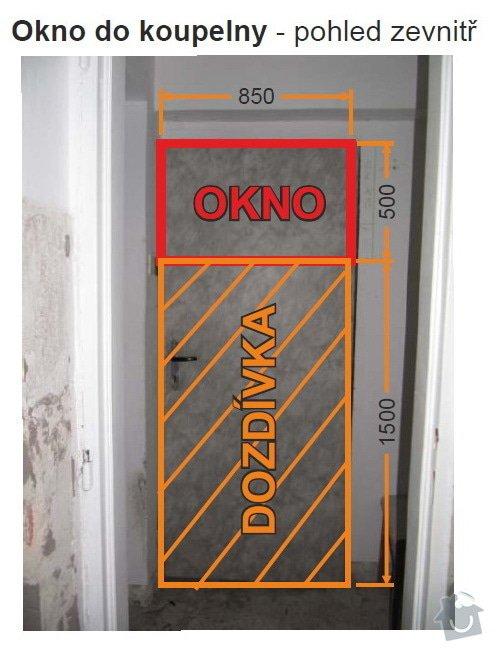 Dveře + okno terasa, okno koupelna: 03KoupelnaVnitrek