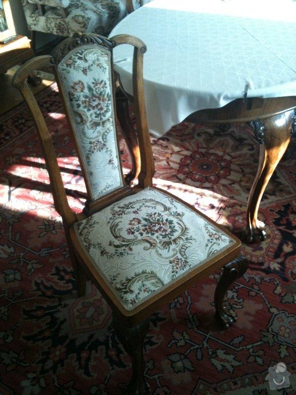 Nové čalounění pro  křesla, chez-long a židle: starozitna-zidle