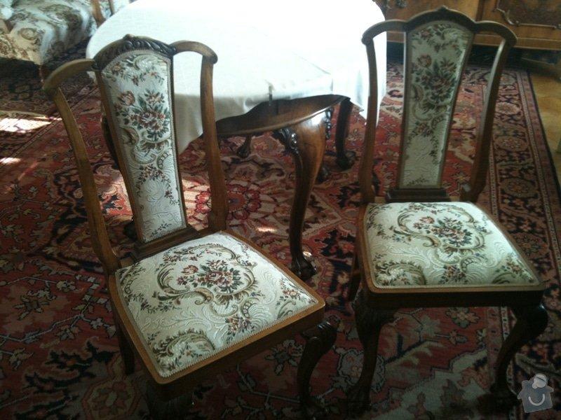 Nové čalounění pro  křesla, chez-long a židle: dve-zidle