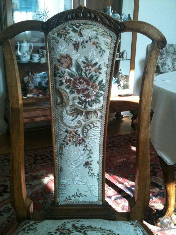 Nové čalounění pro  křesla, chez-long a židle: zada-zidle