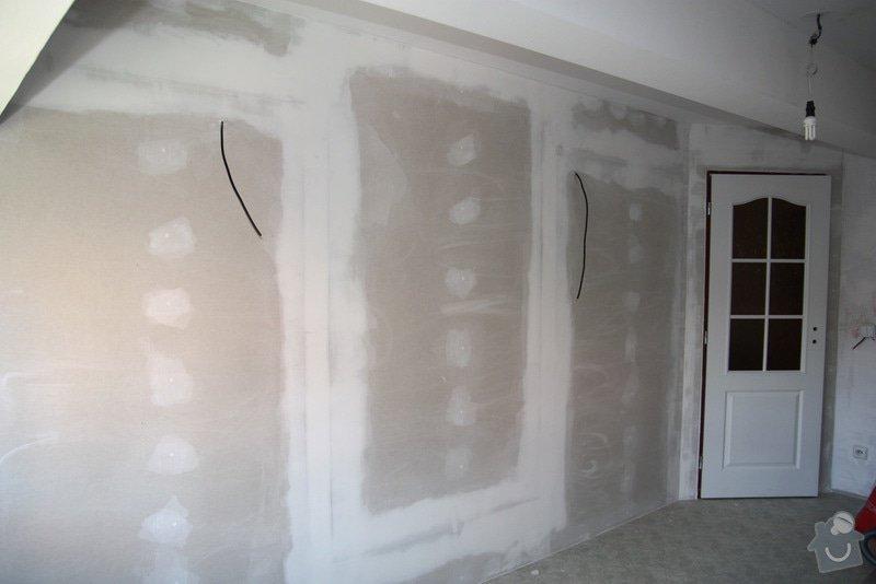 Sádrokartonová příčka včetně zárubní pro dveře: po01-uvnitr