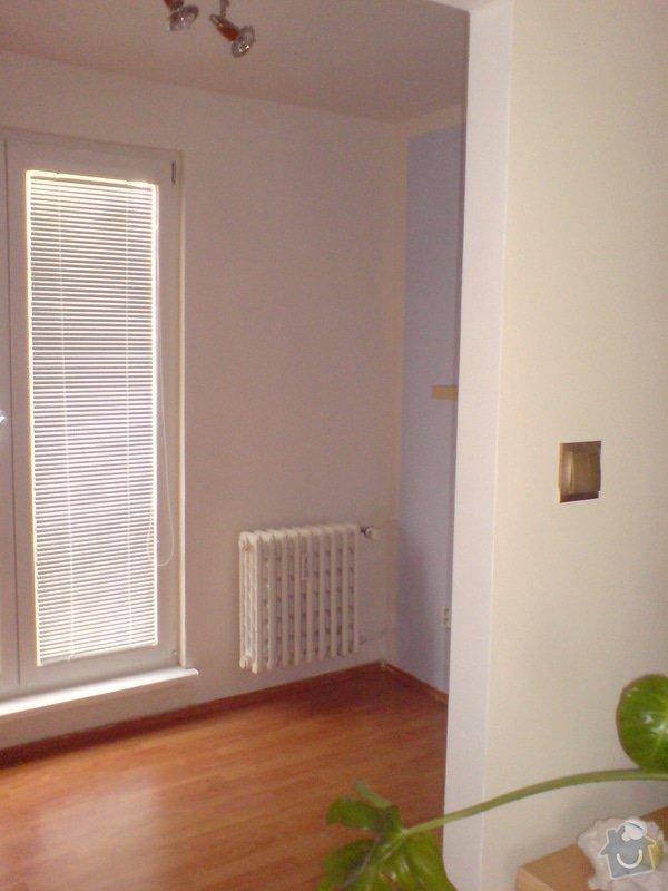Malování, sádrokartonový strop s bodovkami, sádrokartononová příčka: DSC01592