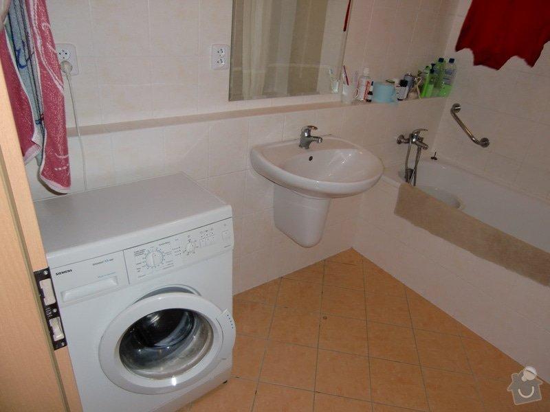 Instalace umyvadla s bidetovou baterií: koupelna_pred