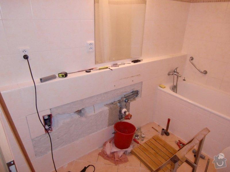Instalace umyvadla s bidetovou baterií: 1