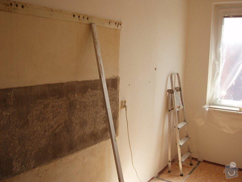 Příprava kuchyně na montáž nové linky: pred2