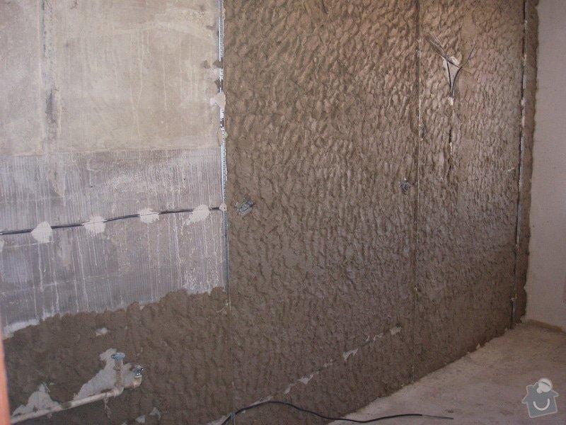 Příprava kuchyně na montáž nové linky: vyrovnavani_steny