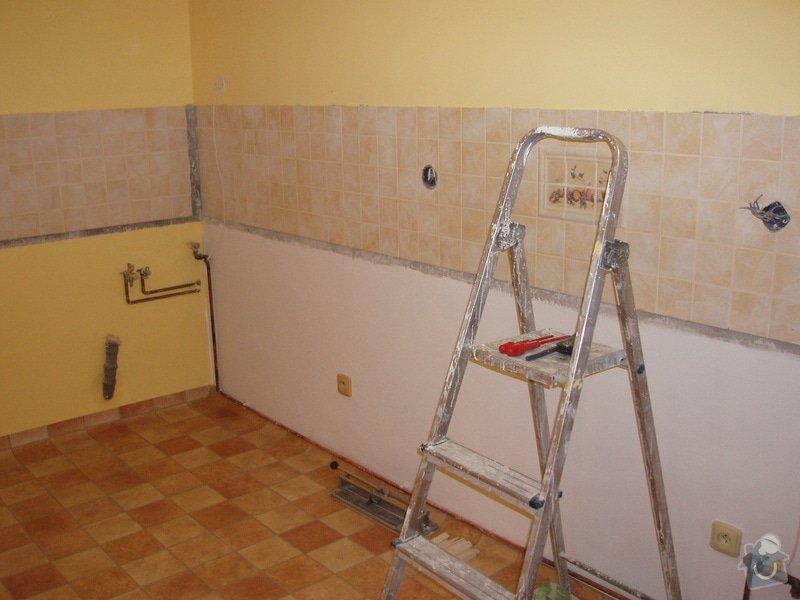 Příprava kuchyně na montáž nové linky: P6220015
