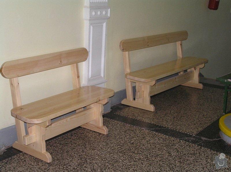 Dřevěné lavice: lavice