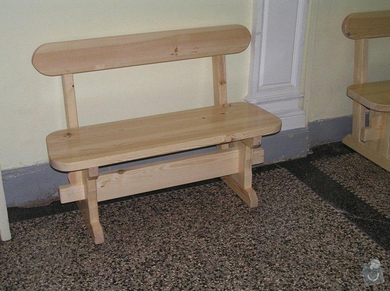 Dřevěné lavice: lavice1