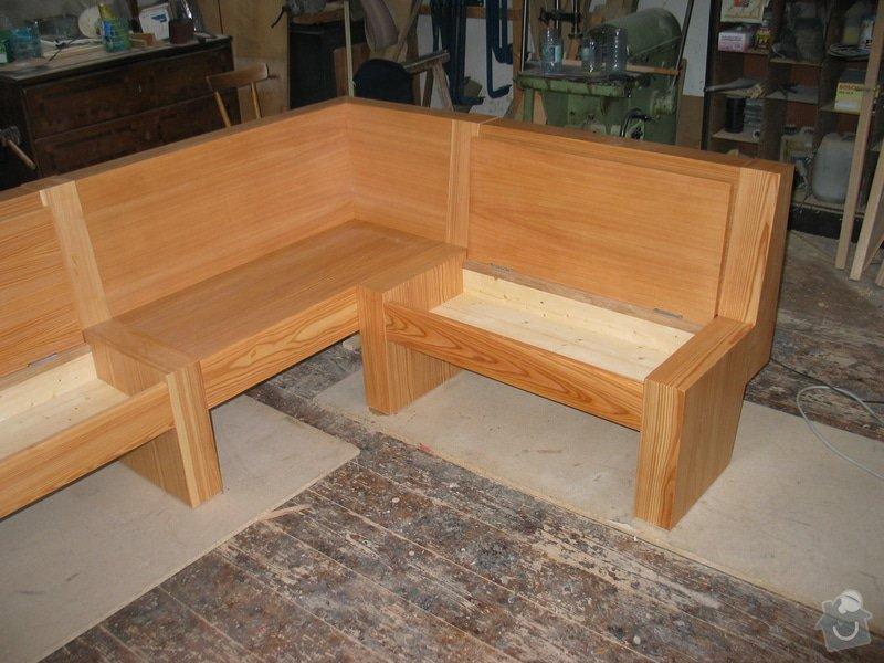 Jídelní stůl  a lavice: 101_0130