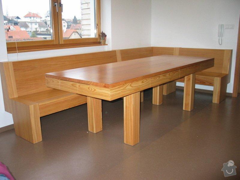 Jídelní stůl  a lavice: 101_0140