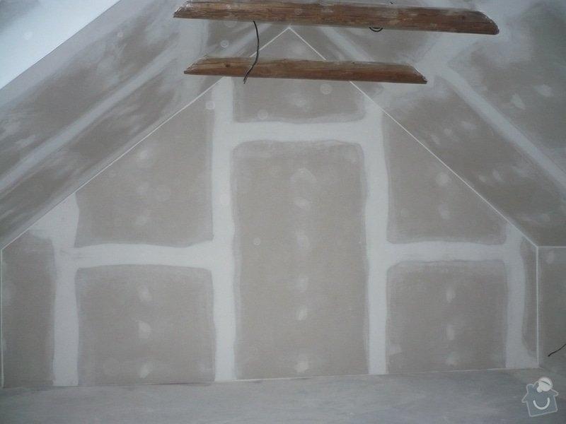 Zateplení a montáž sádrokartonu v podkroví.: P1040244