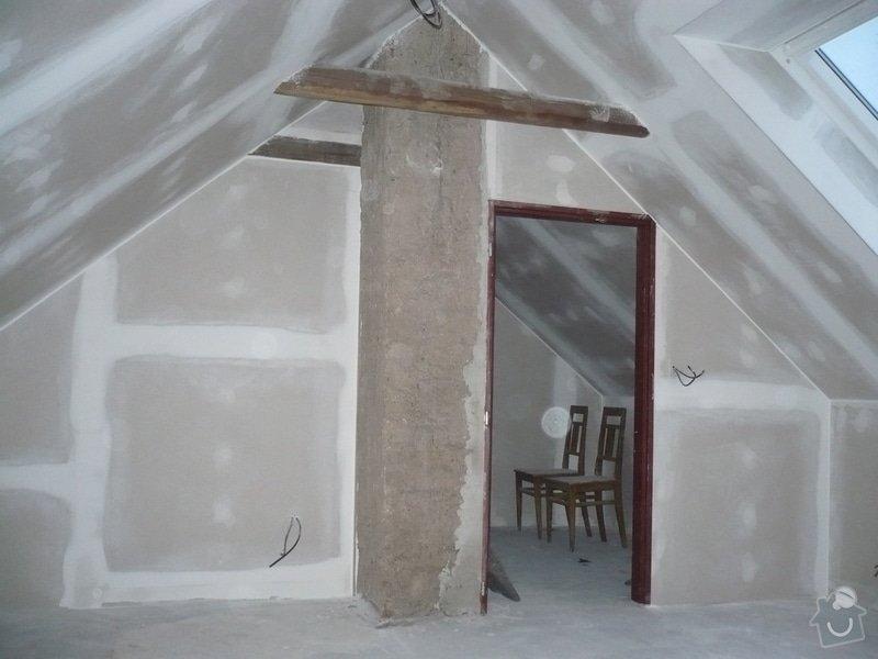 Zateplení a montáž sádrokartonu v podkroví.: P1040245