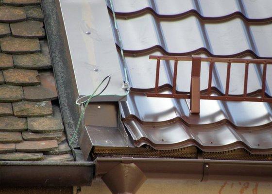Rekonstrukce střechy a klempířské práce s tím spojené