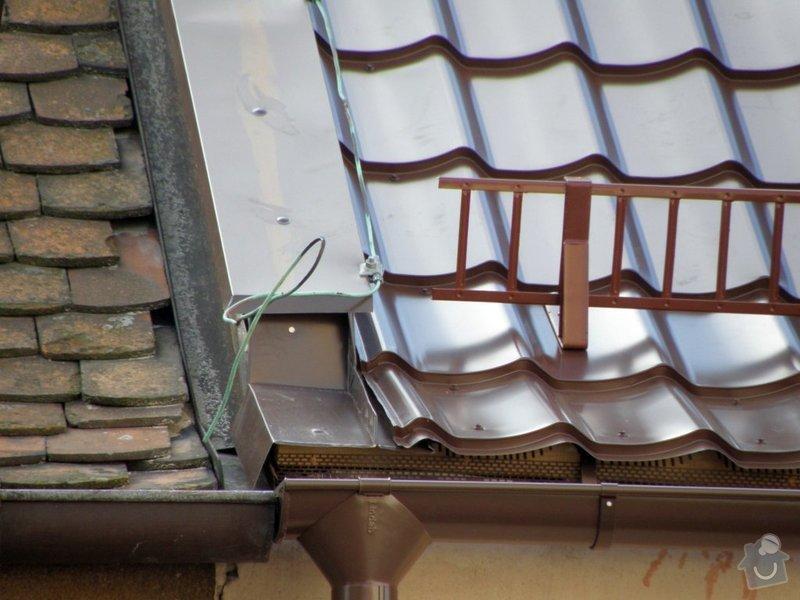 Rekonstrukce střechy a klempířské práce s tím spojené: 4755