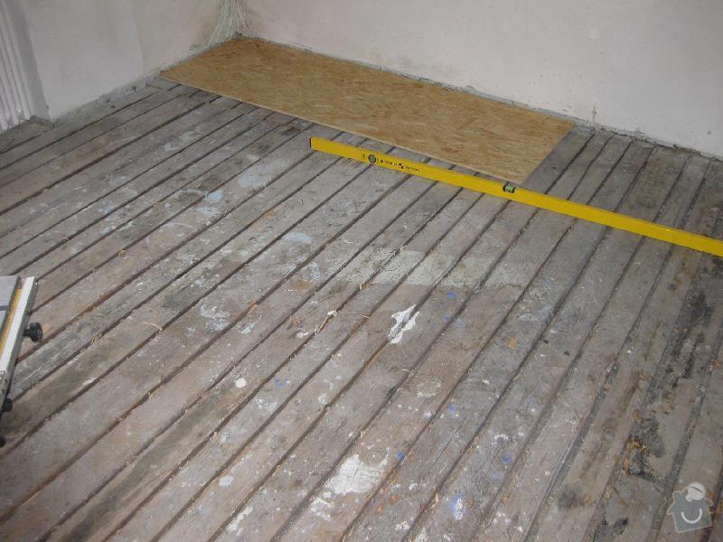 Pokládka laminátové plovoucí podlahy: 1