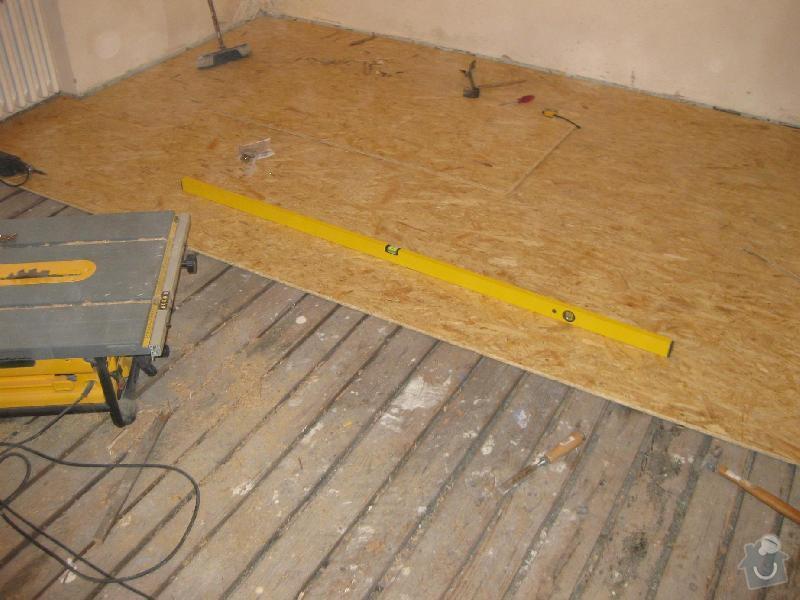 Pokládka laminátové plovoucí podlahy: 2