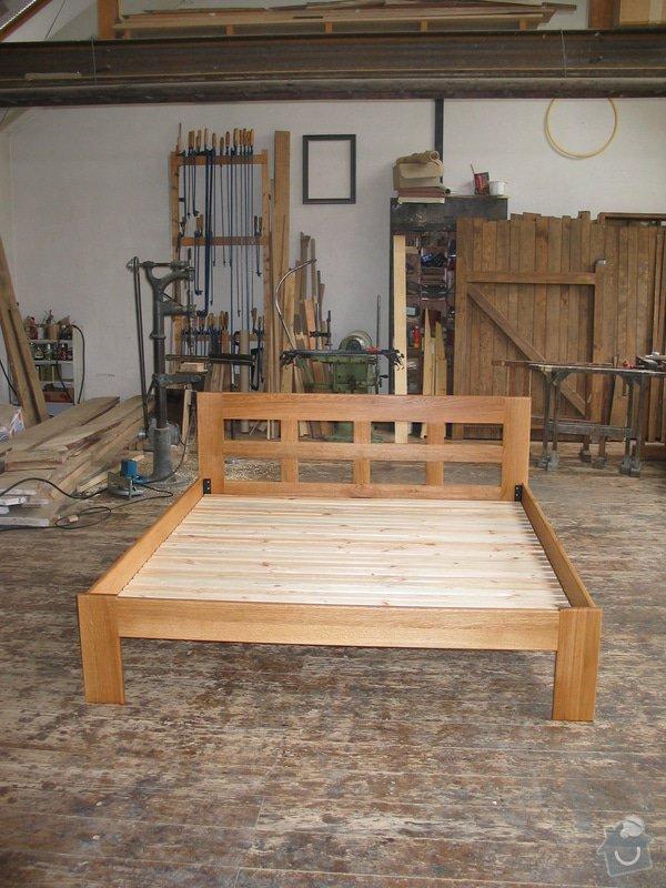 Manželská postel z masivního dřeva: 100_0065_r1