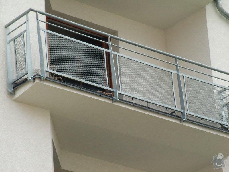 Zábrany na balkón: detail_pred