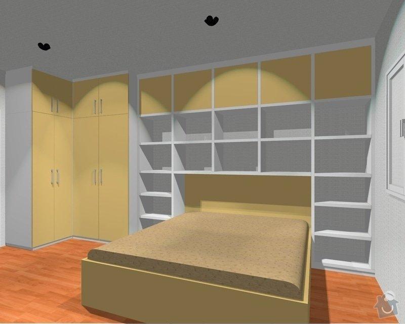 Ložnice / vestavěná skříň na míru: Loznice_1_