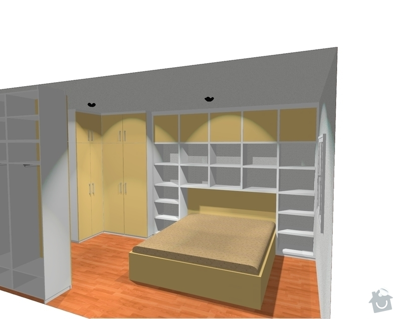 Ložnice / vestavěná skříň na míru: Loznice_3_