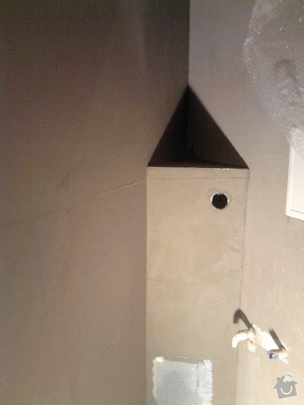 Obkladačské, sádrokartonářské a škutatérské práce (koupelna, komora): P011110_11.57