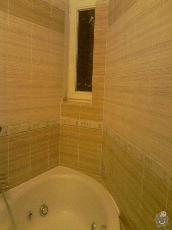 Obkladačské, sádrokartonářské a škutatérské práce (koupelna, komora): P121110_21.04__03_