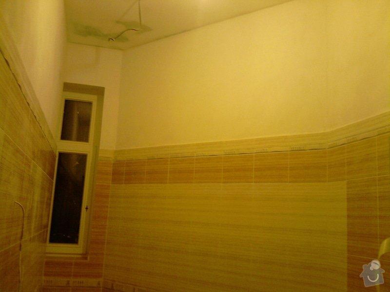 Obkladačské, sádrokartonářské a škutatérské práce (koupelna, komora): P121110_21.05__03_