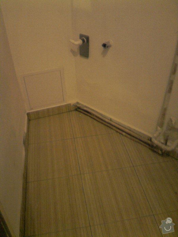 Obkladačské, sádrokartonářské a škutatérské práce (koupelna, komora): P121110_21.05__05_