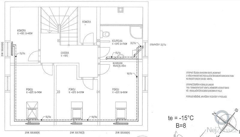 Instalace kotle na tuhá paliva + akumulační nádrž + kombinovaný bojler: vytapeni_II