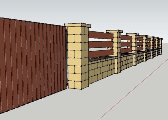 Stavba plotu z crash blocků