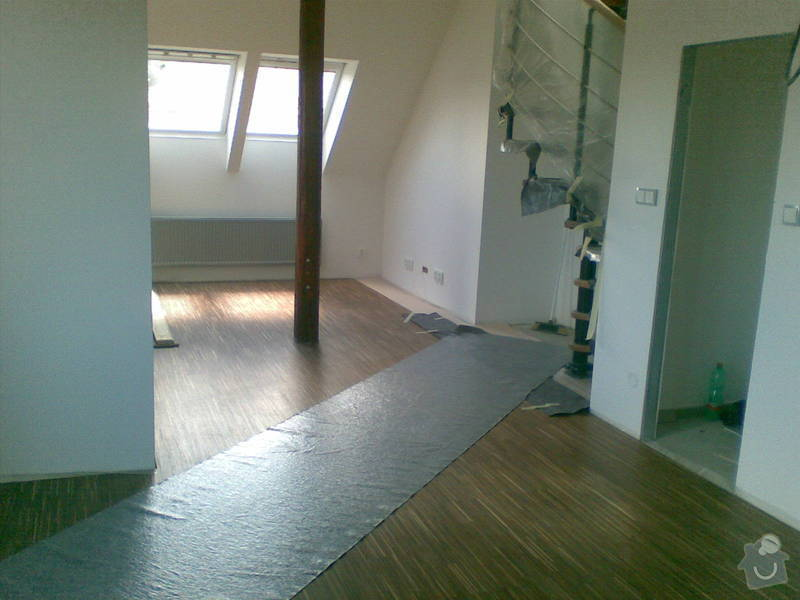 Rekonstrukce bytu - půdní vestavba: 04062010