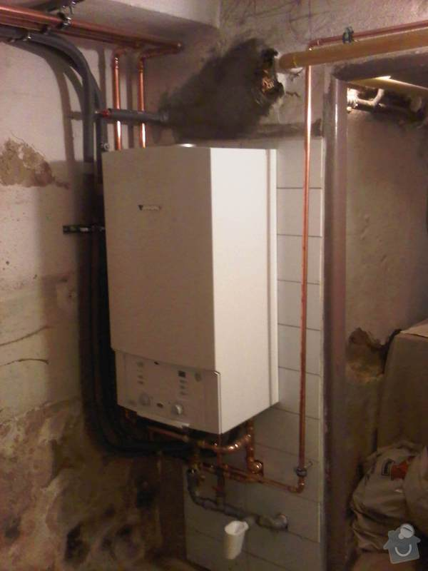 Rekonstrukce topení a plynového kotle: Instalace_kotle