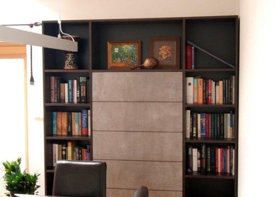Nabytek do obyvaku - stena a knihovna