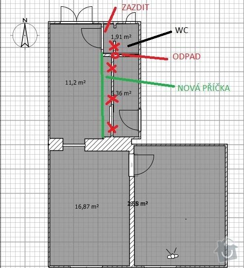 Rekonstrukce bytu na klíč: projekt1