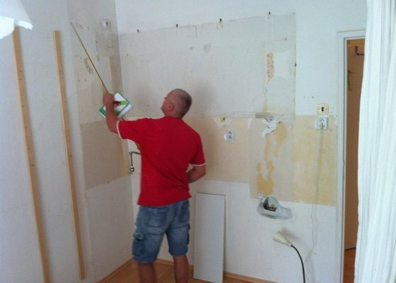 Úprava vody, elektro a zdí pro kuchyňskou linku