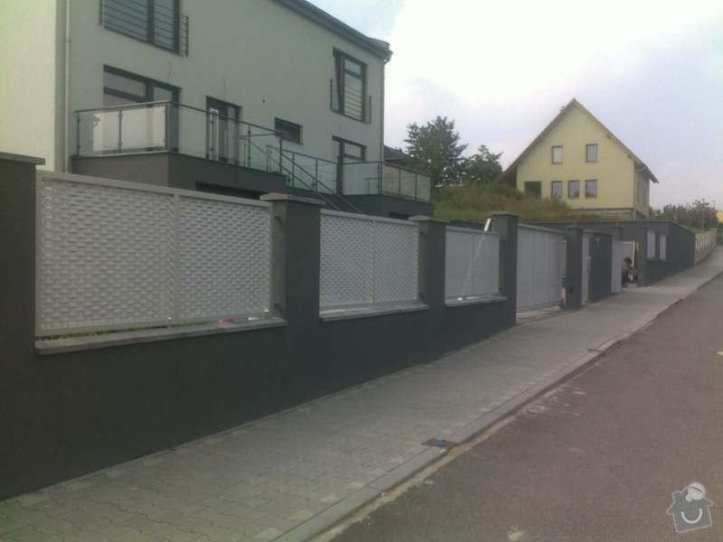 Nesené vjezdové brány, karusel na popelnici, vchodová branka, zábradlí zahradní terasy: 17082011668