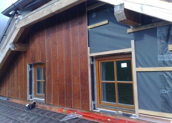 Dřevěný obklad rodinného domu