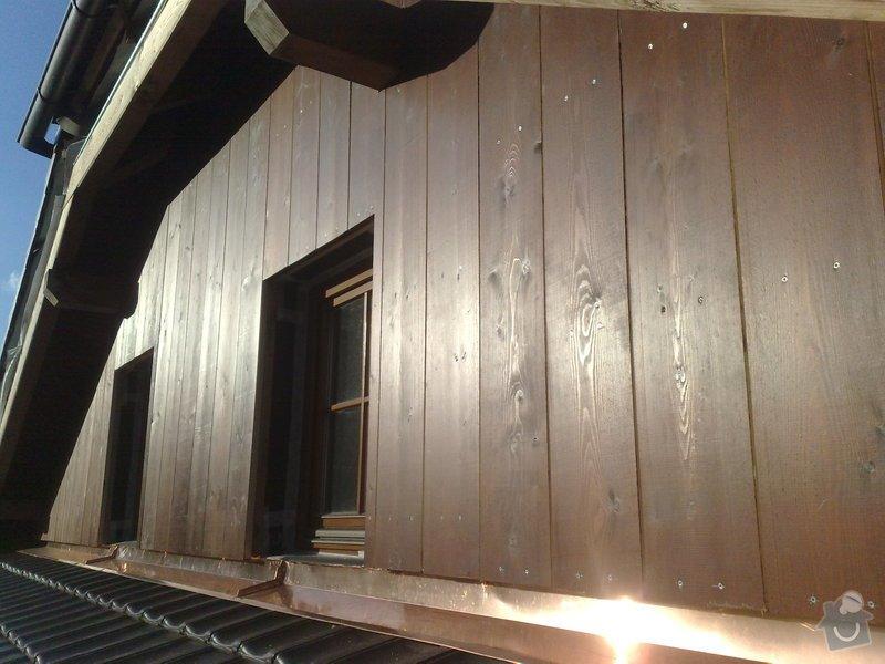 Dřevěný obklad rodinného domu: 131020111220