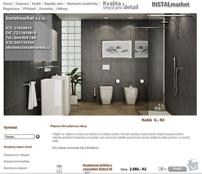 Tvorba E-shopu instalmarket.cz: instalmarket
