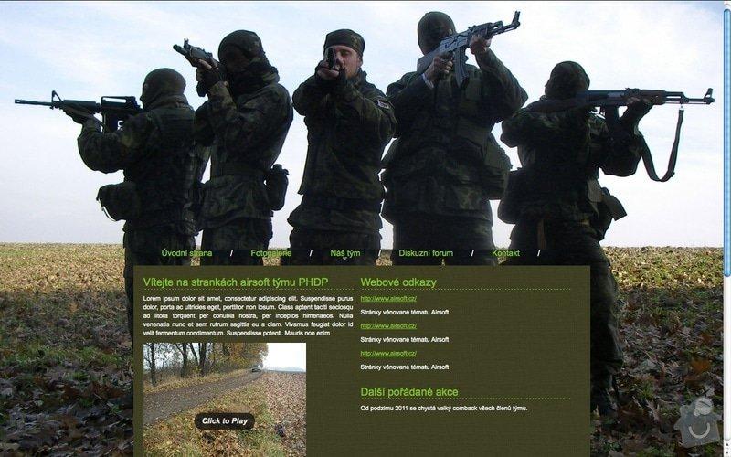 Tvorba webu pro airsoft tým PHDP: Airsoft