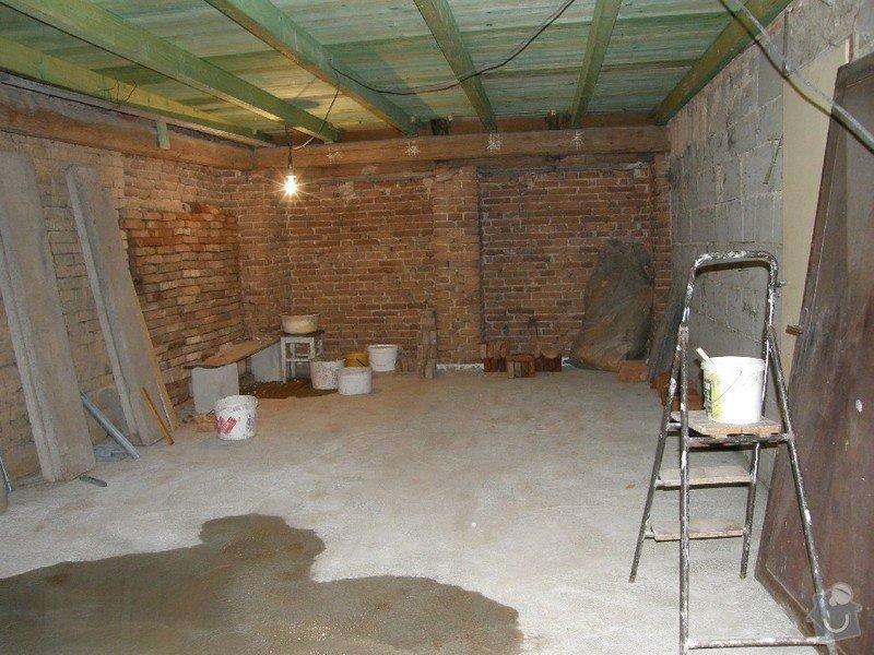 Zednické práce - rekonstrukce místnosti: 1