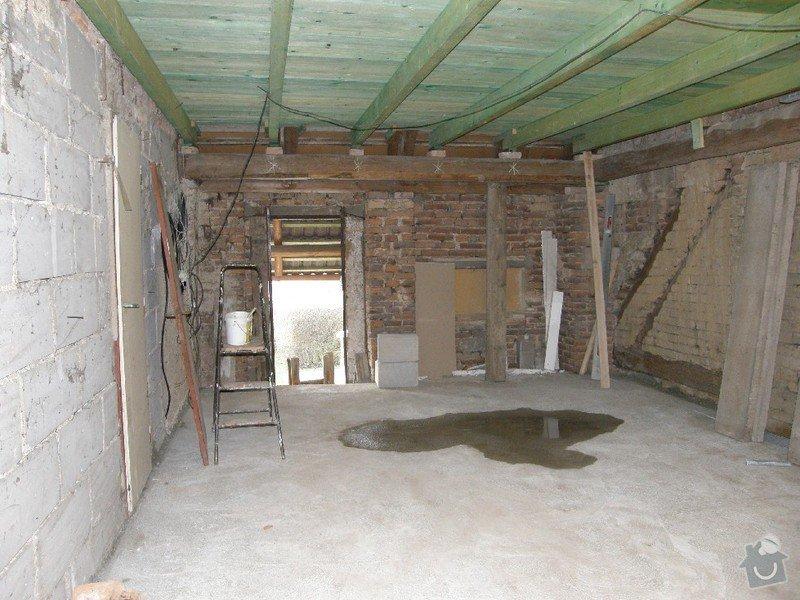 Zednické práce - rekonstrukce místnosti: 3